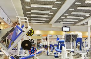 Generic fitness facility with resistance equipment