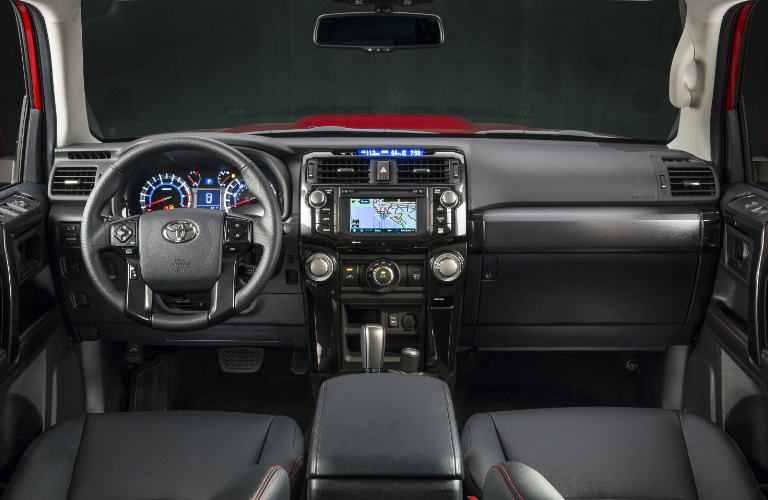 2018 Toyota 4Runner steering wheel and dashboard