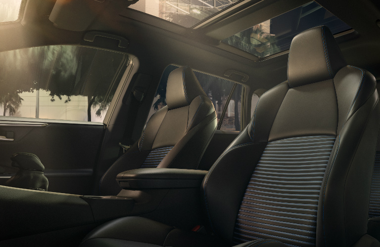 2019 Toyota RAV4 front seats and sunroof