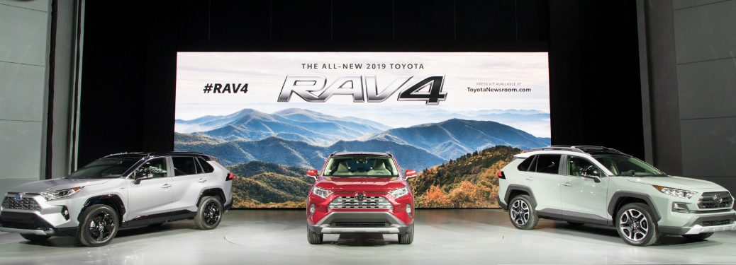 2019 Toyota RAV4 display at the 2018 New York International Auto Show