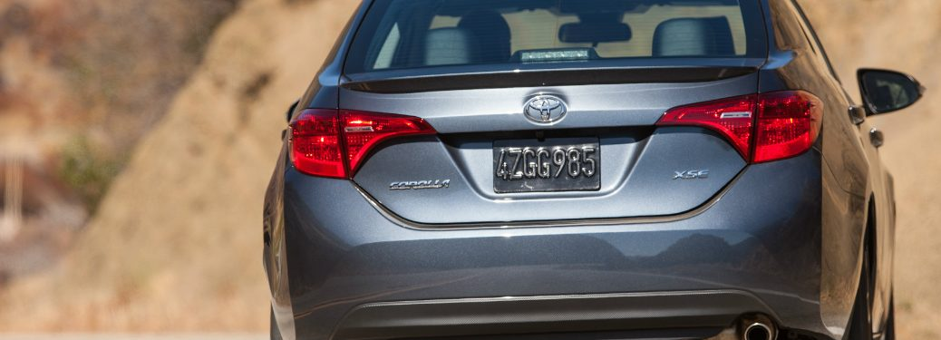 2018 Toyota Corolla rear exterior in grey