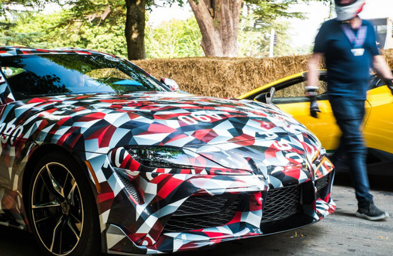 Toyota Supra prototype front exterior and grille