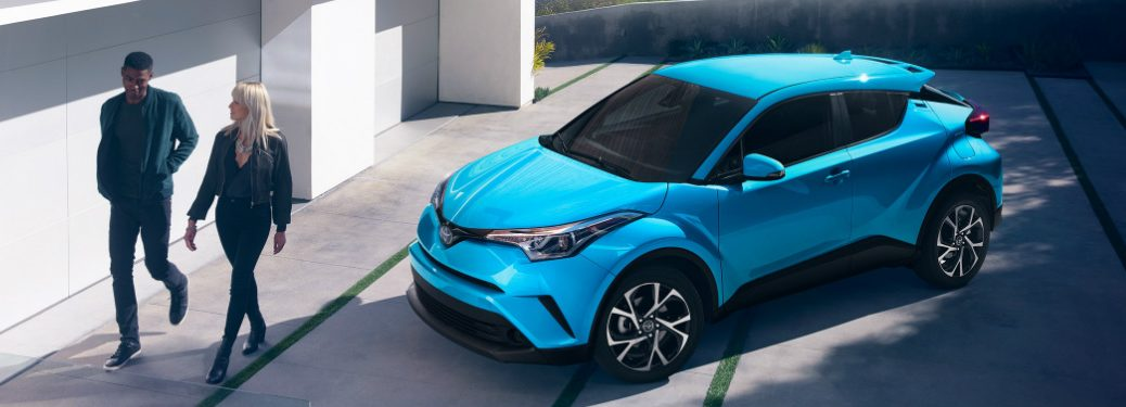 2019 Toyota C-HR in Blue Flame parked in a shaded driveway