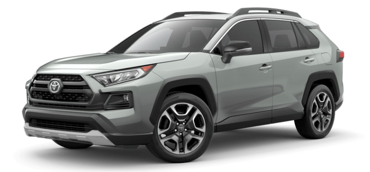 2019 Toyota RAV4 in Lunar Rock Ice Edge Roof