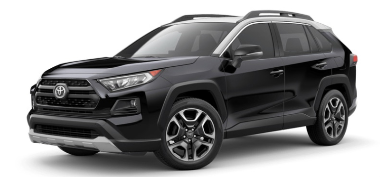 2019 Toyota RAV4 in Midnight Black Metallic Ice Edge Roof