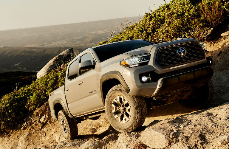2020 Toyota Tacoma climbing a steep incline