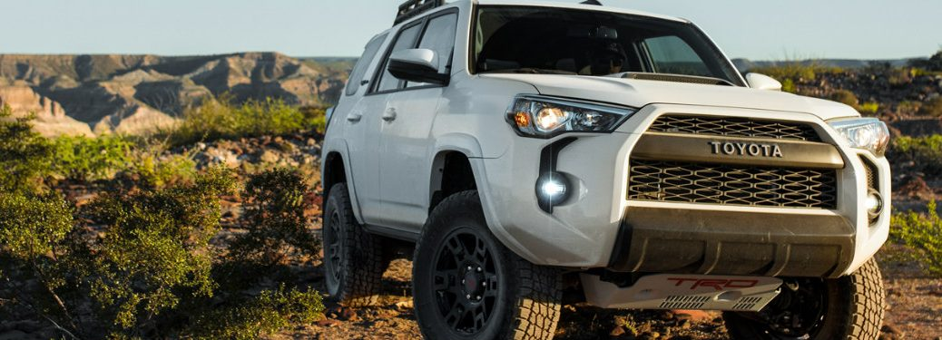 2019 Toyota 4Runner on a trail in the desert