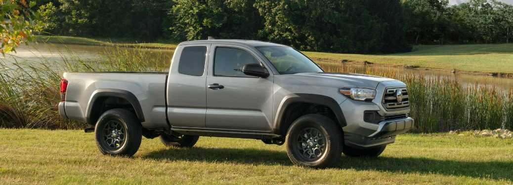 2019 Toyota Tacoma in grey side profile