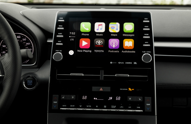 2019 Toyota Avalon touchscreen display with Apple CarPlay