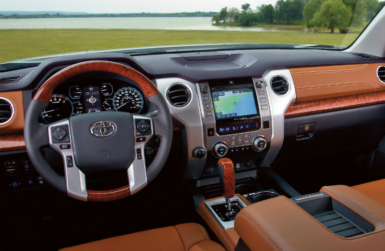 Interior of 2019 Toyota Tundra