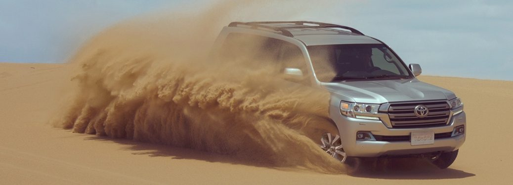 2020 Toyota Land Cruiser going through sand