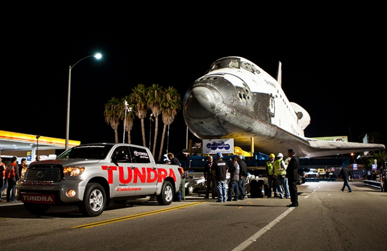 Toyota Tundra Towing the Endeavor