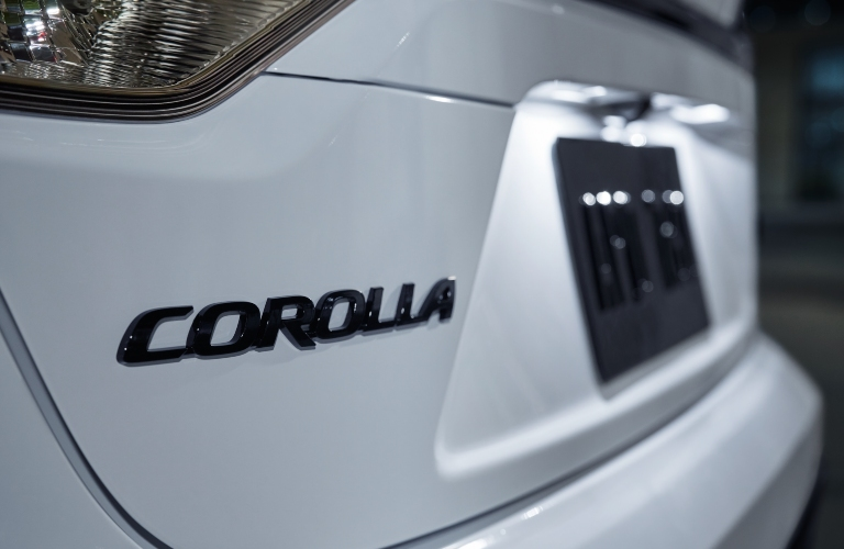 Close up of Toyota Corolla Badge