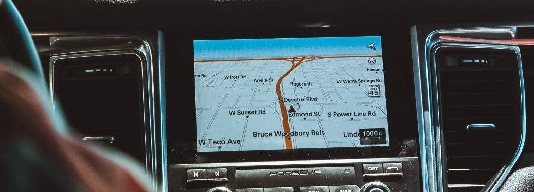 Map Shown on Vehicle Display Screen