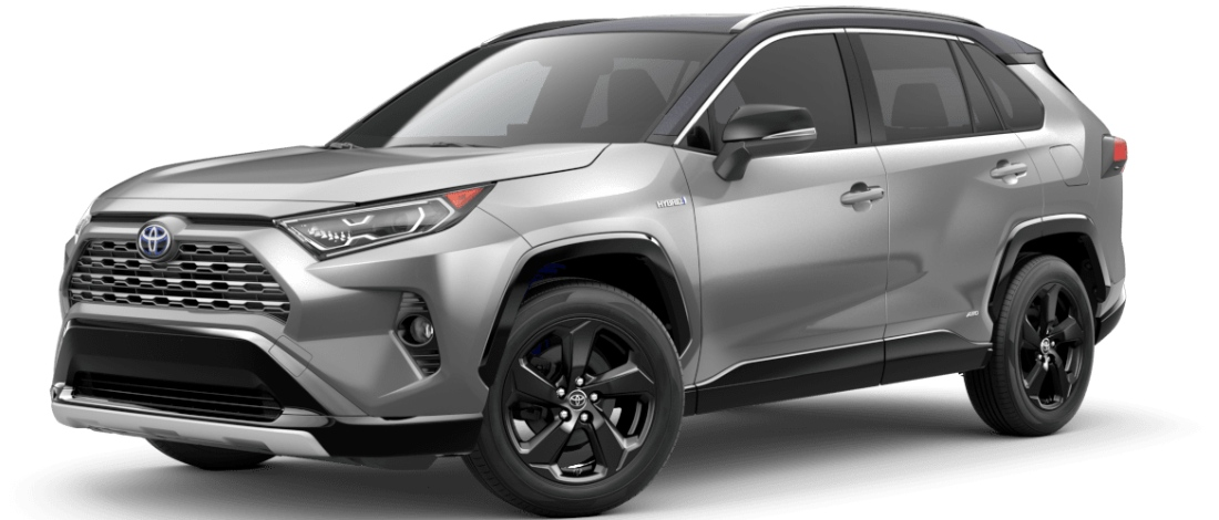 2020 Toyota RAV4 Silver Sky Metallic with Midnight Black Metallic Roof