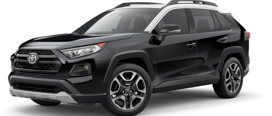 2020 Toyota RAV4 Midnight Black Metallic with Ice Edge Roof