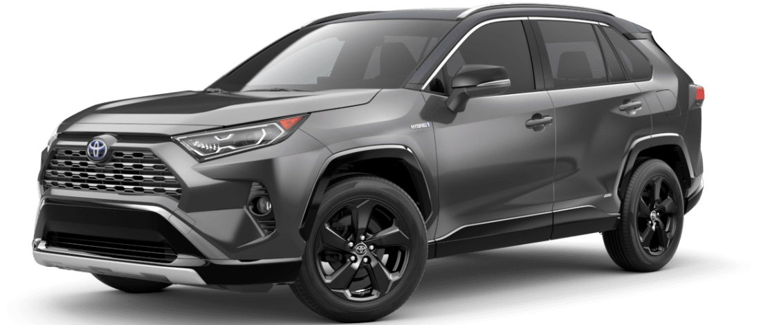 2020 Toyota RAV4 Magnetic Gray Metallic with Black Metallic Roof
