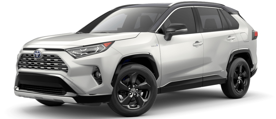 2020 Toyota RAV4 Blizzard Pearl with Midnight Black Metallic Roof