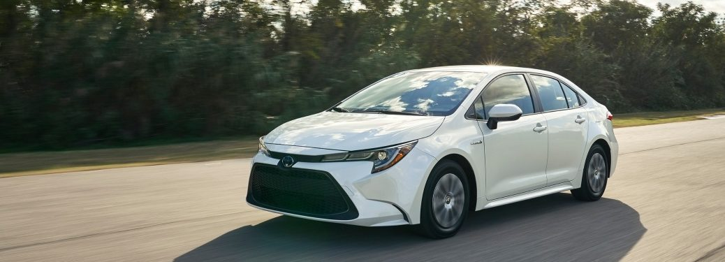 2020 Toyota Corolla going down street