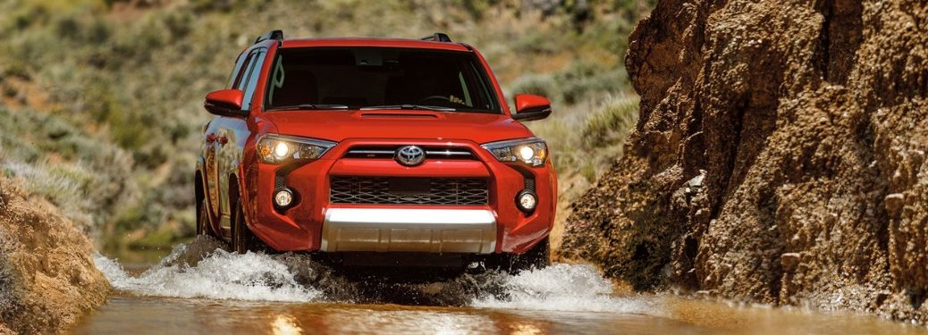 2020 Toyota 4Runner going through a puddle