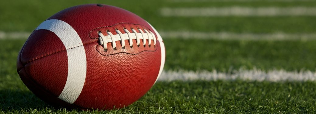 Football laying on the field
