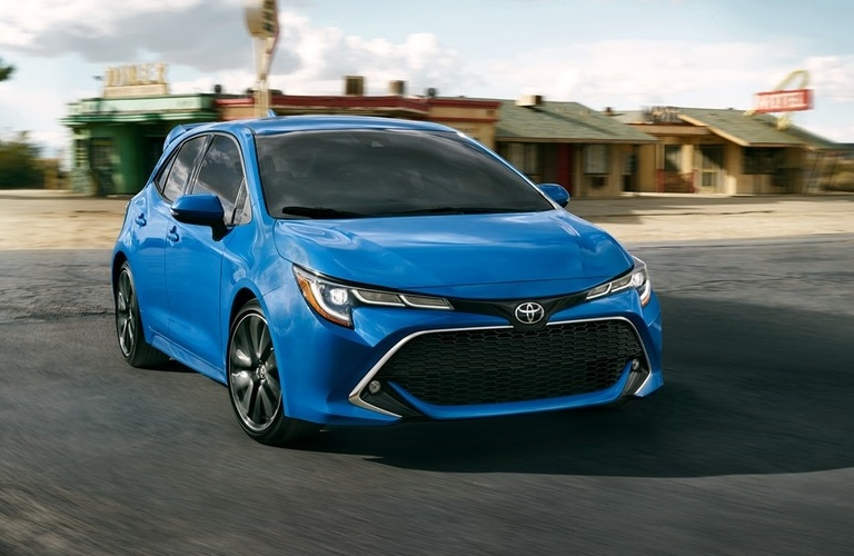2020 Toyota Corolla Hatchback making a turn