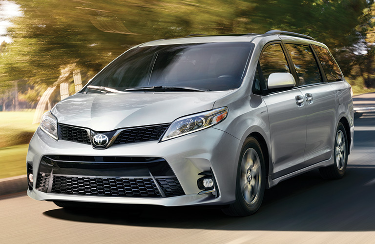 2020 Toyota Sienna going down the street