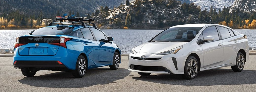 2020 Toyota Prius cars parked next to each other