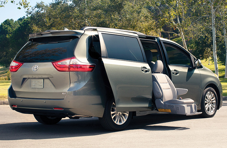 2020 Toyota Sienna with a seat out the passengers side door