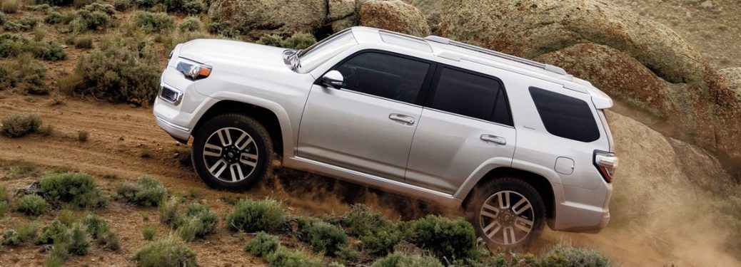 2020 Toyota 4Runner going up a hill