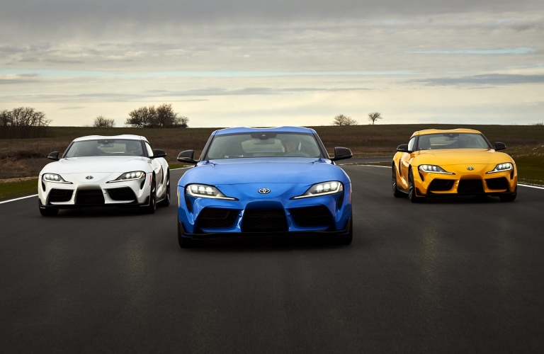 2021 Toyota GR Supra family going down the road