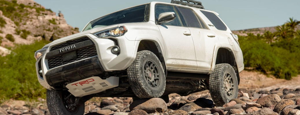 2020 Toyota 4Runner playing on the rocks