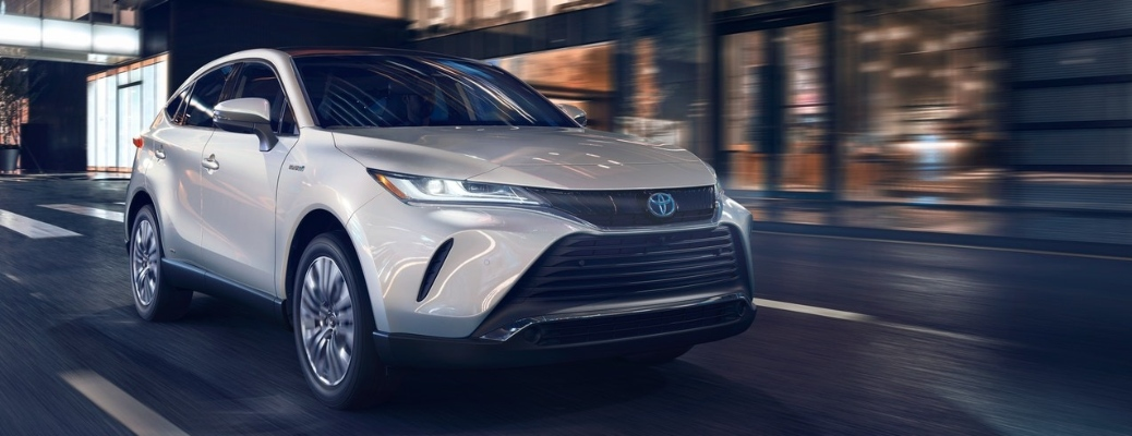 2021 Toyota Venza going down the road