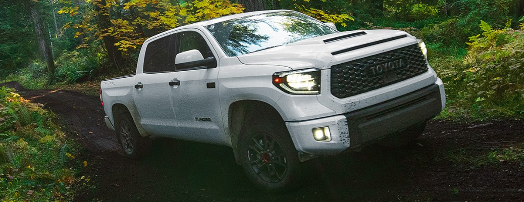 2020 Toyota Tundra adventuring through the woods