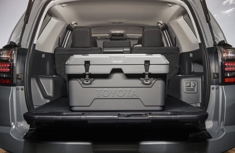 Toyota cooler in the back of the 2021 Toyota 4Runner