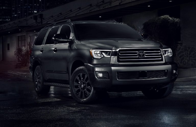 2021 Toyota Sequoia Nightshade Edition front end