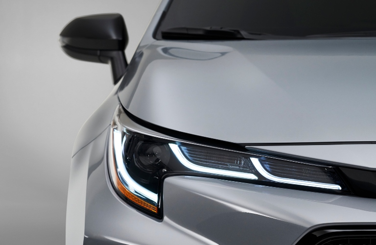 Close up of the front end of the 2021 Toyota Corolla Apex Edition