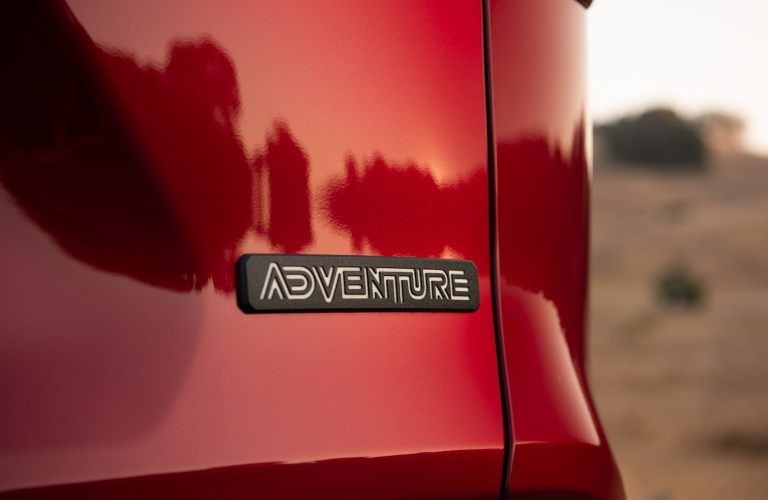 2021 Toyota RAV4 Adventure Badge on the back of the crossover