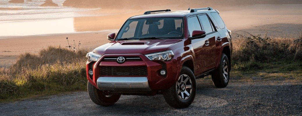 2021 Toyota 4Runner with grass in the background