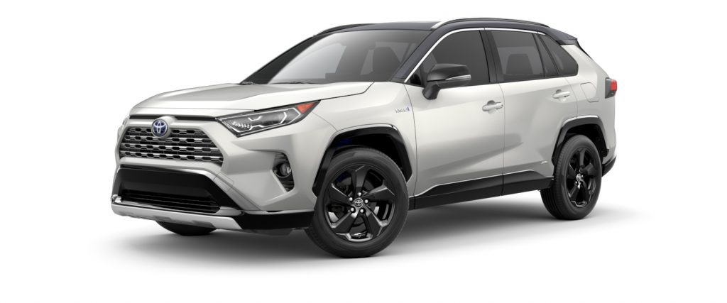 2021 Toyota RAV4 Blizzard Pearl with Midnight Black Roof