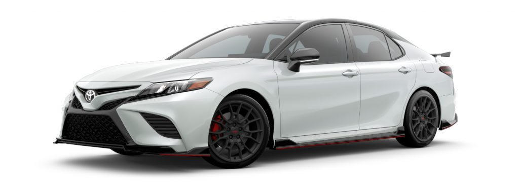 2021 Toyota Camry Wind Chill Pearl and Midnight Black Roof