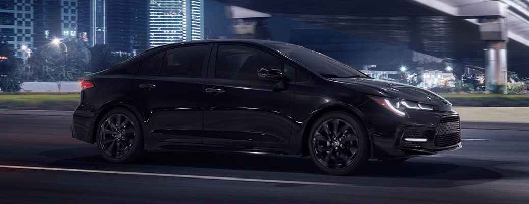 2021 Toyota Corolla going down the road
