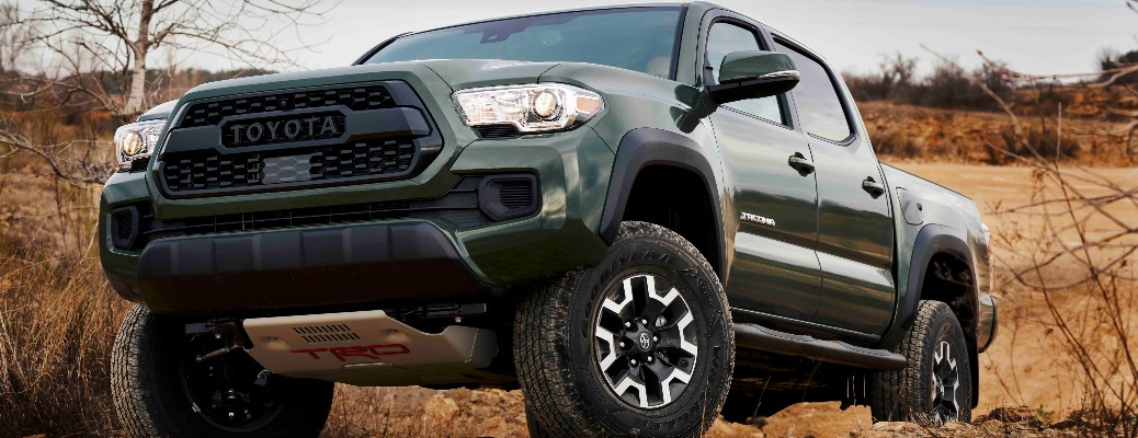 Toyota Tacoma that has a lift kit