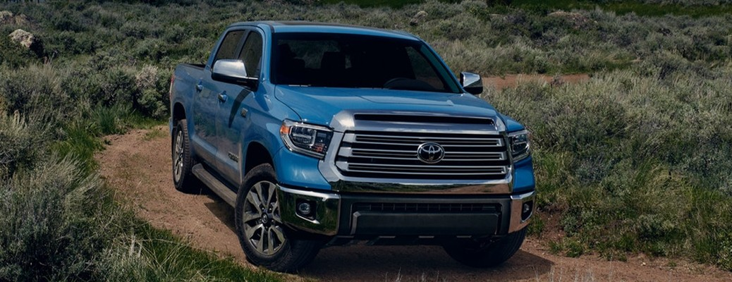 2021 Toyota Tundra going down the path