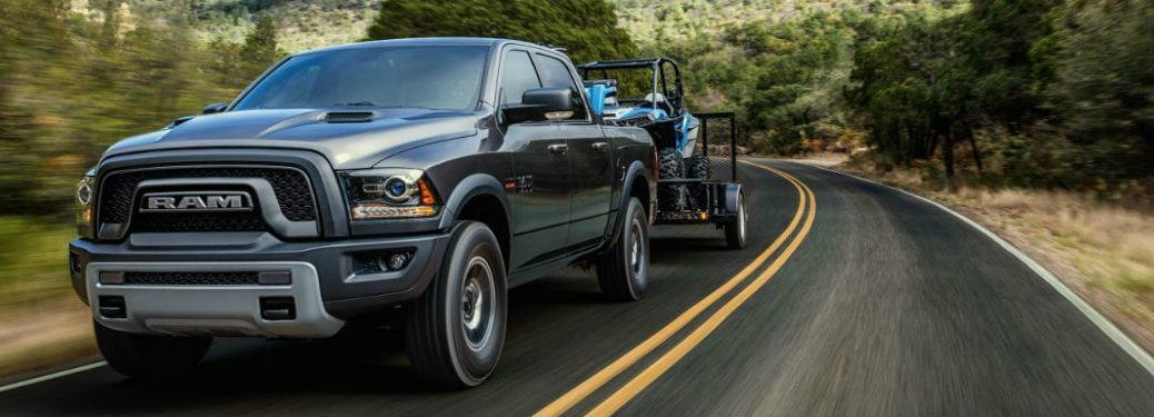 2018 Ram 1500 Rebel driving down road