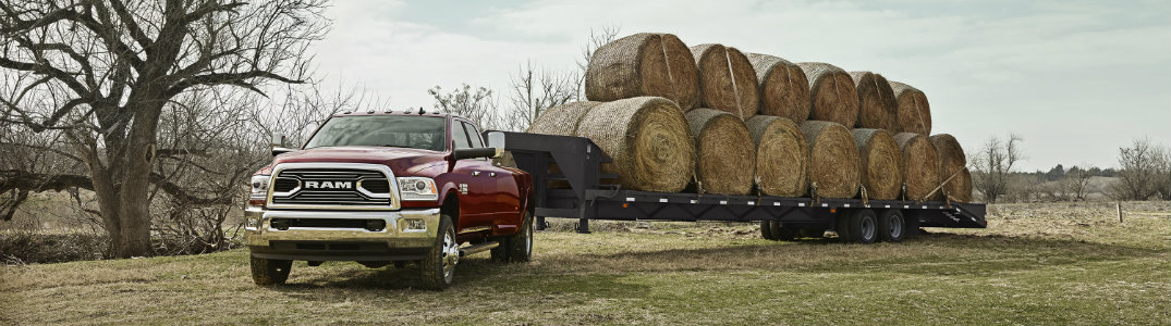 2018 RAM Heavy Duty red front exterior towing trailer