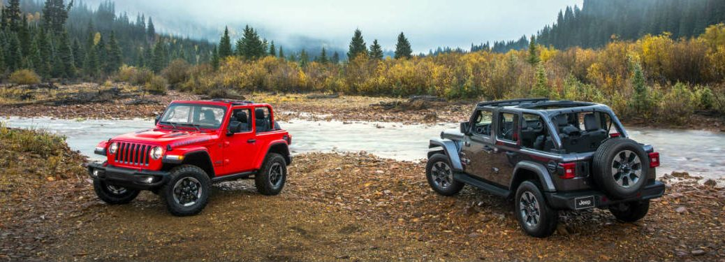 2018 Jeep Wrangler two models by river