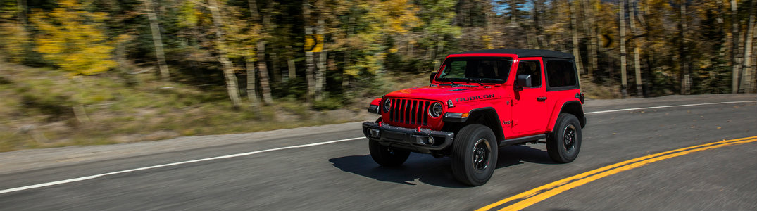 2018 Jeep Wrangler front driving on road