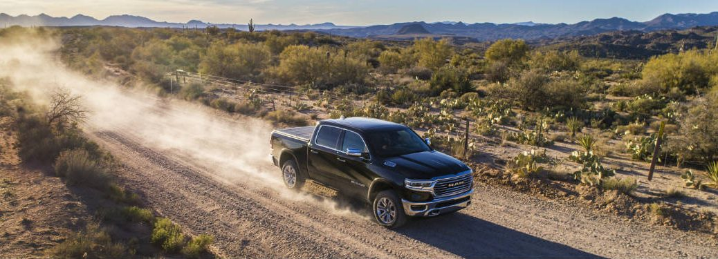 2019 RAM 1500 driving through desert