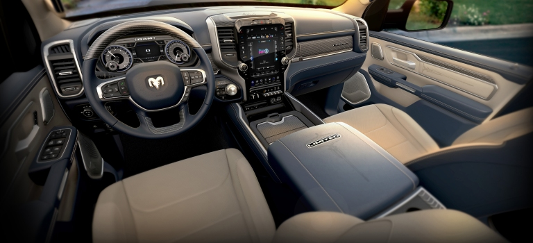 2019 RAM 1500 Limited indigo and beige leather interior
